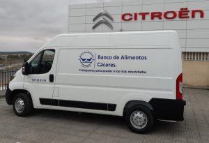 furgoneta-citroën donada por la Federación de Bancos de Alimentos